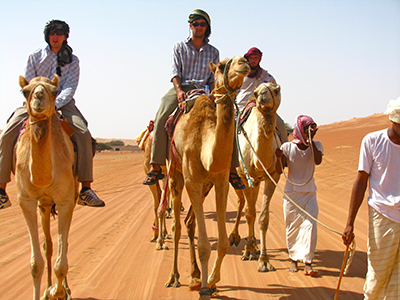 Oman Semester camel riding