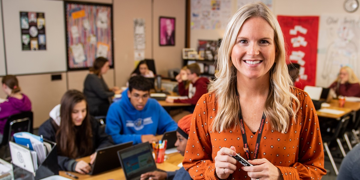 Alison Ter Horst is among 40 teachers from across the country to win a $25,000 Milken Educator Award for 2019–20.