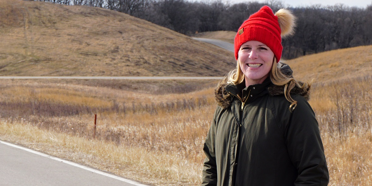 Award-winning environmental educator Kaley Poegel seeks to make learning—both in the classroom and at locations like Glacial Lakes State Park—fun and life-impacting.