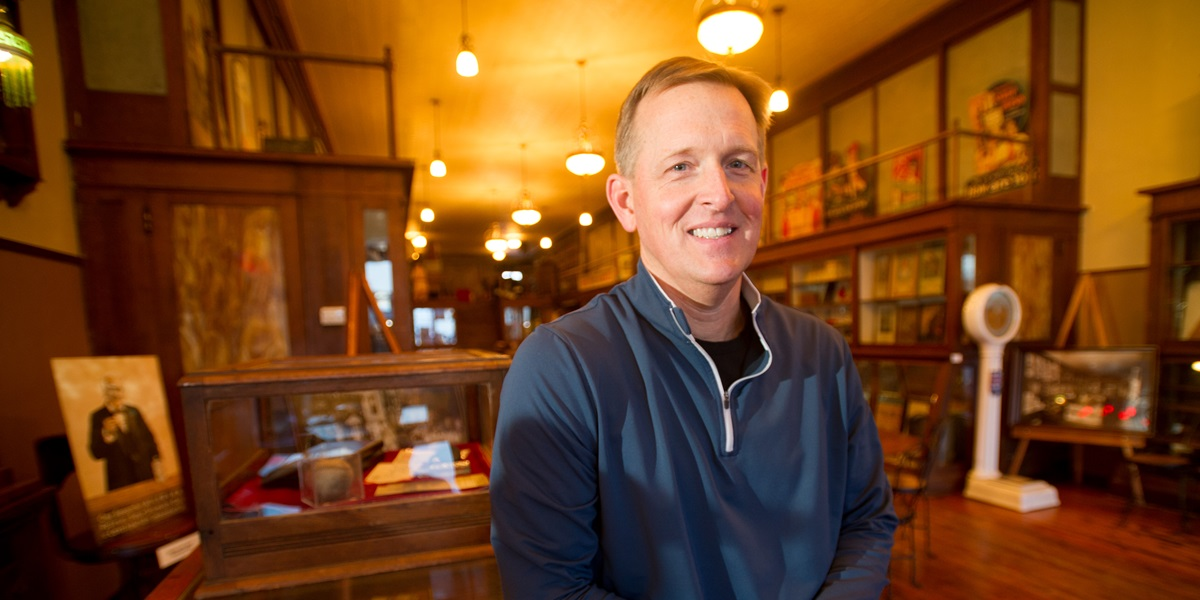 A banker by day, Greg Westra spends his evenings and weekends buying and selling antiques and running The Antique Locker in Rock Valley, Iowa.