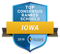 Top 10 consensus ranked schools Iowa